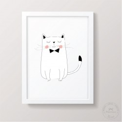 Prinditav seinapilt - Kass lipsuga