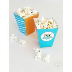 Prinditavad popcorni topsid - Öökull, oranž
