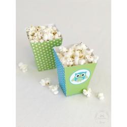 Prinditavad popcorni topsid - Öökull, roheline