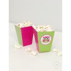 Prinditavad popcorni topsid - Öökull, roosa