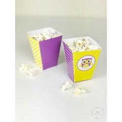 Prinditavad popcorni topsid - Öökull, lilla