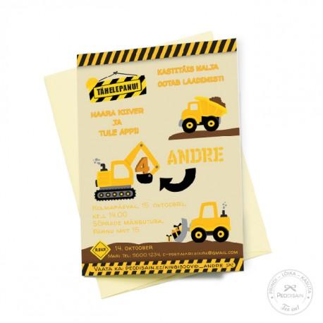 Kutse - Suured masinad, kollane